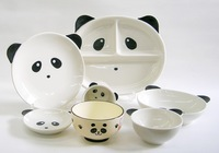 パンダ磁器製食器7点セット 特価 通販 こども食器