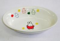 ミッフィー陶器 楕円形カレー皿