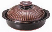 萬古焼 炊飯目盛り付き9号軽量土鍋 激安 ごはん鍋