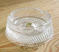 昭和レトロ semi crystal ガラス灰皿 通販