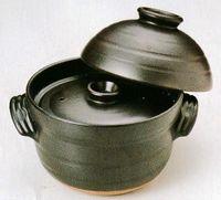 万古焼 炊飯用土鍋 手づくりごはん鍋 二重蓋2合炊き 激安
