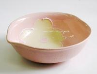萬古焼 一珍桜変形小鉢 特価 通販