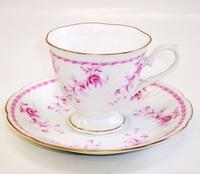 昭和レトロ バラ花柄コーヒーカップ&ソーサー