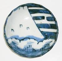昭和レトロ 陶器染付豆皿 手描き 通販
