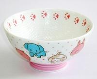 ニコニコアニマルフェイスご飯茶碗 特価 通販 子供食器