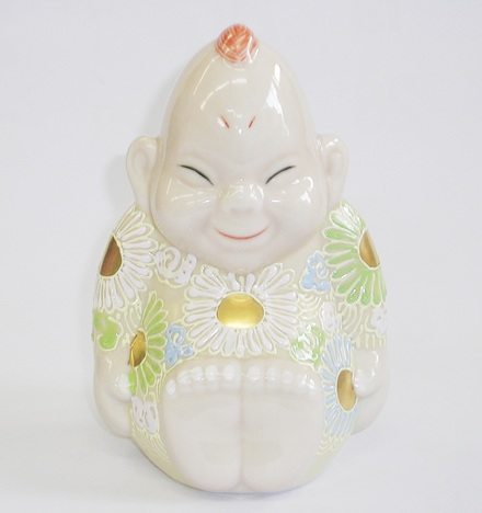 九谷焼ビリケン 座布団サービス 販売 色盛