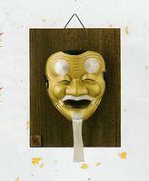 昭峰窯 翁(おきな)吉祥面 特価 壁掛け式 通販