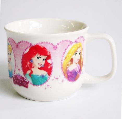 ディズニープリンセス(花飾り)磁器製マグカップ