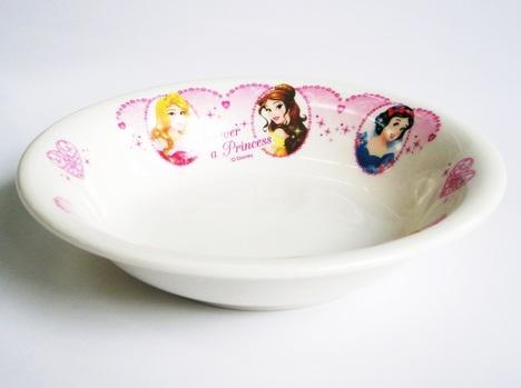 ディズニープリンセス(花飾り)磁器製フルーツ皿