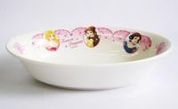 ディズニープリンセス(花飾り)磁器製 楕円形カレー皿