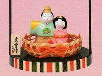 薬師窯 錦彩桜橘飾り睦立雛 特価 通販
