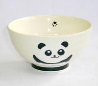 黒パンダ 陶器 飯茶碗 波佐見焼 特価 通販