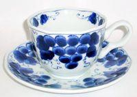 染付 コーヒーカップ&ソーサー 通販 特価
