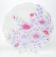 川村硝子工芸 ガラス大皿 盛皿 ガラス 通販 山茶花