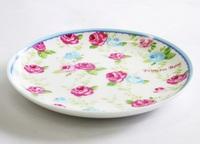 薔薇の花柄の陶器の小皿 通販