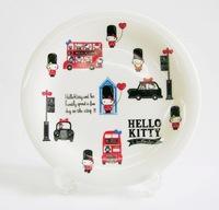 ハローキティ ロンドン 磁器製ケーキ皿 特価 通販