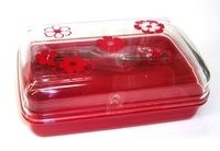 昭和レトロ リス トレビアンシリーズ バターケース 赤 通販