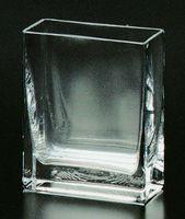 透明 無地 角型ガラス花瓶 通販
