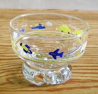 アデリア 昭和レトロ ガラス アイスクリームグラス
