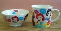 ディズニープリンセス ジュニア磁器製茶わん・マグカップセット