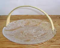 昭和レトロ 波 東洋ガラス盛り皿 通販
