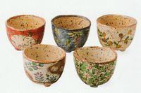 波佐見焼 五彩 彩り古紋 陶碗揃 5個揃 特価