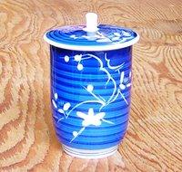 昭和レトロ 手描き手彫り蓋付長湯のみ 通販