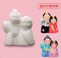 イベントや粗品に無地の雛人形 お絵かき雛人形貯金箱 通販