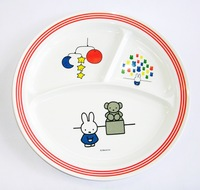 ミッフィー 丸3仕切ランチ皿 特価通販