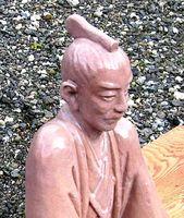 大きな手づくり吉田松陰の陶器の置物 床の間や玄関の置物にいかがですか?山口県出身の方への贈り物におすすめ