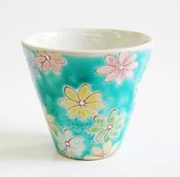 九谷焼 文吉窯 湯飲み 通販 花の舞