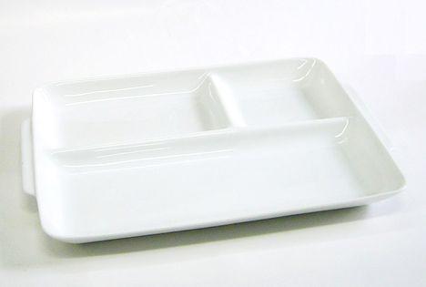 AZ(白)UK角仕切皿 特価 通販