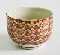 昭和レトロ 九谷焼 高台湯呑み 陶器食器