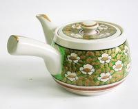 昭和レトロ 九谷焼 手描き高級急須 陶器食器