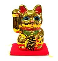 常滑焼 貯金箱 黄金小判猫 招き猫