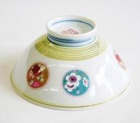 昭和レトロ 花窓 陶器の飯茶碗/汁碗