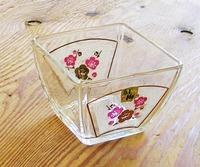 昭和レトロ カメイガラス 紅梅 角小鉢 通販