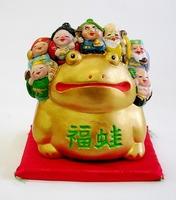 万兵 縁起置物 招き蛙 貯金箱 通販