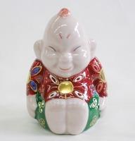 九谷焼2.5号ビリケン・茶盛 座布団サービス 販売