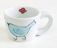 波佐見焼 小鳥マグカップ 磁器製 通販
