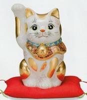 九谷焼 10号招き猫 盛(左手上げ) 特価 通販
