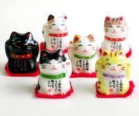 薬師窯 彩絵まめ福招き猫 特価 通販