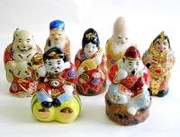 九谷焼 3号七福神・盛 人形 9センチから9.5センチ 通販