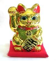 常滑焼 梅月 金色 招き猫右手 特価 通販