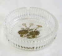 昭和レトロ 金花柄丸型灰皿 通販