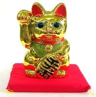 常滑焼 梅月 金色 招き猫左手 特価 通販