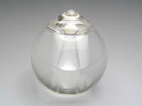 宝珠型舎利入れ 水晶30mm