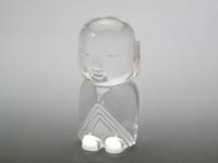 貴石彫刻 懐中お守り水晶地蔵