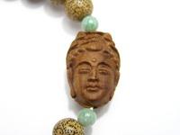菩提樹デザインブレスレット 仏頭・星月菩提樹・ビルマ翡翠