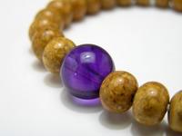 菩提樹デザインブレスレット 天竺菩提樹・紫水晶